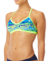 TYR Women's Serenity Crosscut Tieback Top - Blue/Green