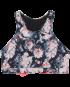Padma Kira Top - Blk/Coral