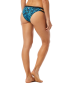 TYR Women's Burano Cove Mini Bikini Bottom - Blk/Turq