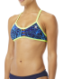 TYR Women's Kauai Pacific Tieback Top - Blue/Navy