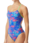TYR Women's Canvas Cutoutfit Swimsuit - Red/Turquoise/Blue