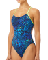 TYR Women's Kauai Cutoutfit Swimsuit - Blue/Navy