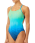 TYR Women's Kinematic Cutoutfit Swimsuit - Blue/Green