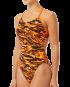 Women's Miramar Cutoutfit Swimsuit - Black/Orange