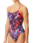 TYR Women's Penello Cutoutfit Swimsuit - Red/White/Blue