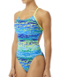 TYR Women's Serenity Cutoutfit Swimsuit - Blue/Green