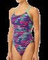 TYR Women's Teramo Cutoutfit Swimsuit - Pur/Turq
