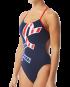 TYR Women's Big Logo USA Cutoutfit Swimsuit