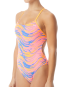 TYR Women's Wave Rider Cutoutfit Swimsuit - Pink/Blue