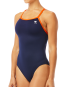 TYR Women's Hexa Diamondfit Swimsuit - Navy/Orange