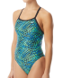 TYR Women's Swarm Diamondfit Swimsuit - Blue/Green