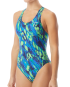 TYR Women's Brandello Maxfit Swimsuit   - Blue/Green
