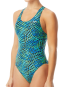 TYR Women's Swarm Maxfit Swimsuit  - Blue/Green