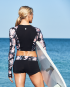 Shop The Look - Padma Maya Long Sleeve Crop Rashguard & Padma Della Boyshort