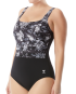 TYR Women's Boca Scoop Neck Controlfit - Black/Grey