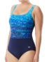 TYR Women's Arctic Scoop Neck Controlfit - Navy/Blue