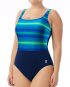 TYR Women's Tramonto Scoop Neck Controlfit - Blue/Green