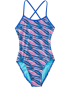 TYR Pink Girls' Adrift Crosscutfit Tieback Swimsuit