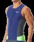 TYR Men's Competitor Singlet - Navy/Grey