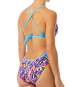 TYR Women's Santa Marta Crosscutfit Tieback Swimsuit - Purple/Yellow