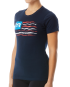 "TYR Women's ""Let Freedom Swim"" Graphic Tee - Navy"