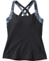 TYR Women's Lola Tank-Serpiente-BLACK