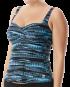 TYR Women's Byron Bay Twisted Bra Tankini - Black/Blue