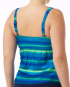 TYR Women's Tramonto Twisted Bra Tankini - Blue/Green