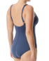 The Women's Solid Twisted Bra Controlfit Swimsuit - Storm