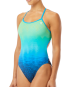 TYR Women's Kinematic Trinityfit Swimsuit - Blue/Green